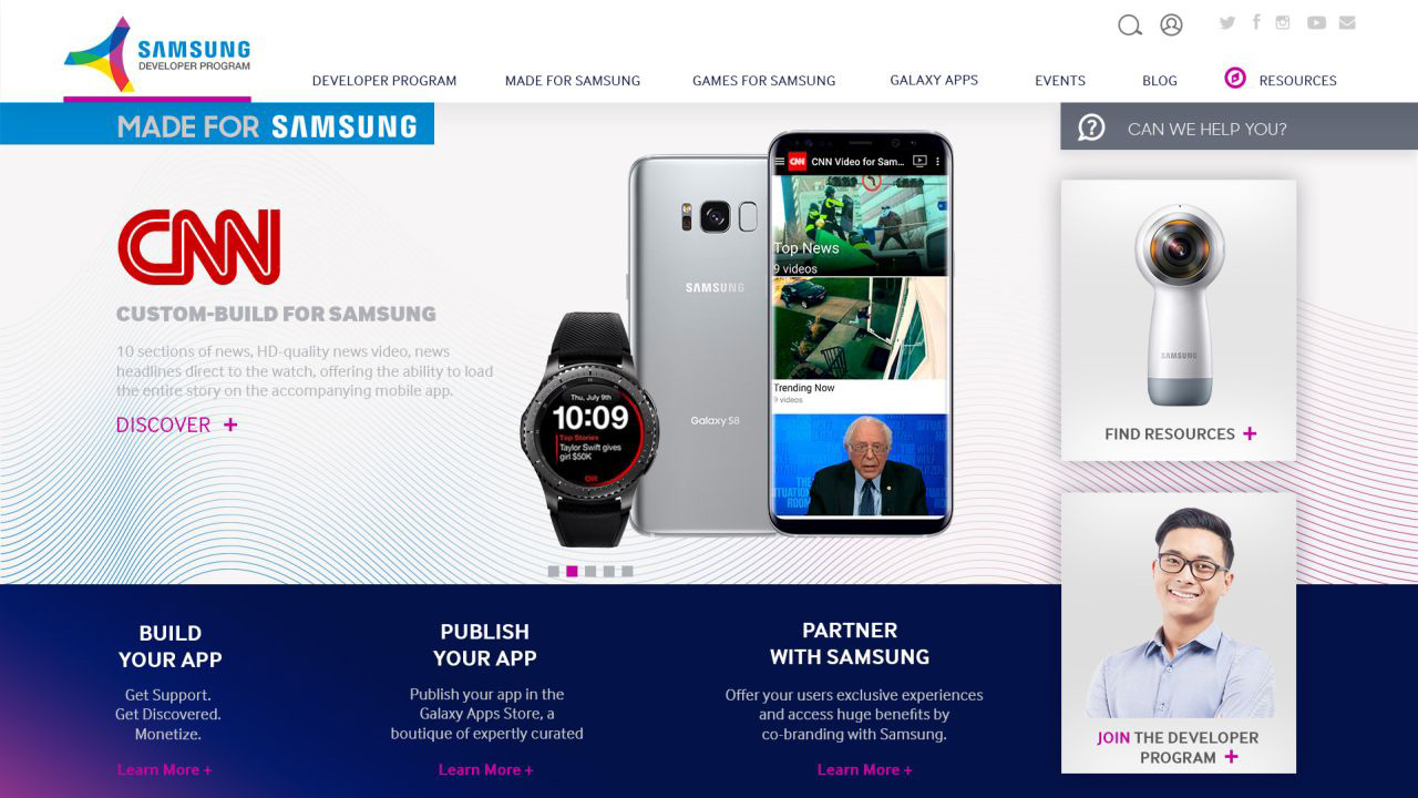 A full makeover for a Developer – Redesigning the Samsung Developers Website
